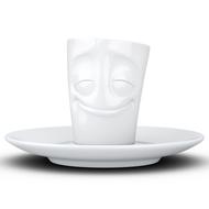Tassen Кофейная чашка с блюдцем Cheery (80 мл), белая