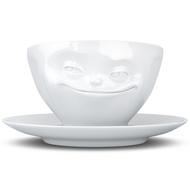 Tassen Чайная пара Grinning (200 мл), белая