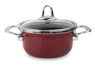 Kochstar Кастрюля эмалированная Copper Core Cookware (1.4 л), 16 см, бордо
