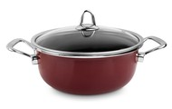 Kochstar Кастрюля эмалированная Copper Core Cookware (4.3 л), 24 см, бордо