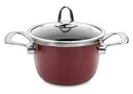 Kochstar Кастрюля эмалированная Copper Core Cookware (1.9 л), 16 см, бордо