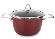 Kochstar Кастрюля эмалированная Copper Core Cookware (3.7 л), 20 см, бордо