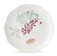 Lenox Тарелка акцентная Бабочки на лугу. Голубая бабочка, 23 см, золото