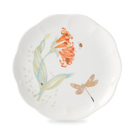 Lenox Тарелка акцентная Бабочки на лугу. Стрекоза, 23 см, золото