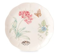 Lenox Тарелка обеденная Бабочки на лугу. Голубая бабочка, 27.5 см, золото