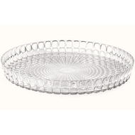 Guzzini Поднос круглый Tiffany, 35.6 см, прозрачный