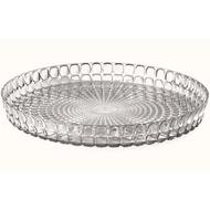 Guzzini Поднос круглый Tiffany, 35.6 см, серый