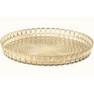 Guzzini Поднос круглый Tiffany, 35.6 см, песочный