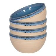 WaechtersBach Набор салатников Голубой песок, 13.7х7 см, 4 шт.