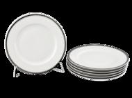 Leander Набор тарелок десертных Сабина Изящная платина, 02160329-0011, 19 см, 6 шт.