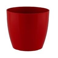 Artevasi Кашпо San Remo, 11.5х9.6 см, темно-красное глянцевое