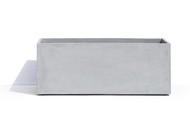 Cosapots Кашпо Athena, 100х40х40 см, светло-серое