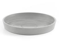 ECOPOTS Поддон круглый, 16х2.5 см, светло-серый