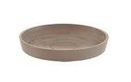 ECOPOTS Поддон круглый, 16х2.5 см, серо-коричневый