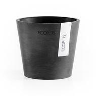 ECOPOTS Кашпо Amsterdam, 10.5х9 см, антрацит