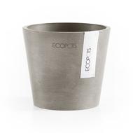 ECOPOTS Кашпо Amsterdam, 10.5х9 см, серо-коричневое