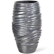 Fleur Ami Кашпо Toga Aluminium, 42х70 см, серебро