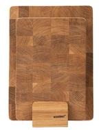 Woodeed Набор разделочных досок из дуба на подставке, 2 шт.