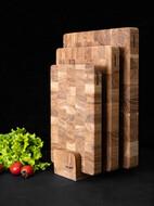Woodeed Набор разделочных досок из дуба на подставке, 3 шт.
