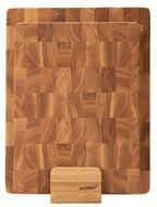 Woodeed Набор разделочных досок из ясеня на подставке, 2 шт.