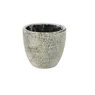 Ter Steege Кашпо керамическое Anne, 8х8 см, серое