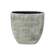 Ter Steege Кашпо керамическое высокое Anne Лодка, 38х17х38 см, серое