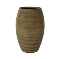Кашпо керамическое высокое Cresta, 20х30 см, карамель