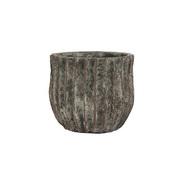 Ter Steege Кашпо керамическое Sia, 8х7 см, серо-коричневое