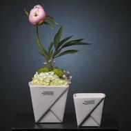 Tiziano Кашпо керамическое Cabras, 9.5 х9.5х9 см, кремовое