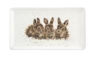 Royal Worcester Блюдо сервировочное прямоугольное Забавная фауна.Крольчата, 20х8 см