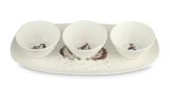 Royal Worcester Набор салатников на подносе Забавная фауна. Морские свинки, 30x15 см, 3 шт.