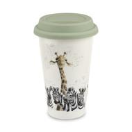 Royal Worcester Термокружка Забавная фауна.Зебры и жираф (310 мл)