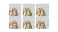 Pimpernel Набор подставок под горячее Забавная фауна.Совы, 10х10 см, 6 шт.