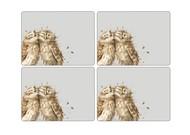 Pimpernel Набор подставок под горячее Забавная фауна.Совы, 40х29 см, 4 шт.
