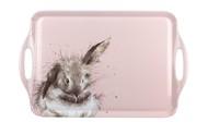 Pimpernel Поднос прямоугольный с ручками Забавная фауна. Пушистый кролик, 48х30 см