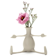 Peleg Design Ваза для цветов с гибкими ручками Florino, серая