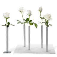 Peleg Design Набор магнитных ваз Magnetic Vase, 5 шт., серебристый
