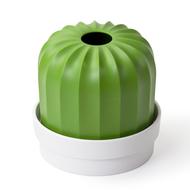Qualy Держатель для салфеток Cactiss, белый с зеленым