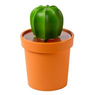 Qualy Емкость для хранения Cacnister с ложкой, оранжевая с зеленым