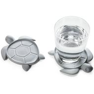 Qualy Подставка под стаканы Save Turtle, серая