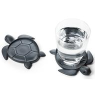 Qualy Подставка под стаканы Save Turtle, темно-серая