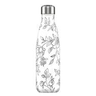 Chilly's Bottles Термос Line Drawing Flowers (500 мл), белый