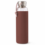 Black+Blum Бутылка для воды стеклянная (600 мл), бордовая