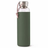 Black+Blum Бутылка для воды стеклянная (600 мл), оливковая