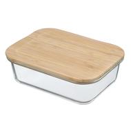 Smart Solutions Контейнер для еды стеклянный (1050 мл), с крышкой из бамбука