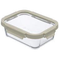 Smart Solutions Контейнер для еды стеклянный (1050 мл), светло-бежевый