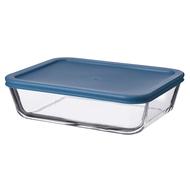 Smart Solutions Контейнер для еды стеклянный (1400 мл), темно-синий