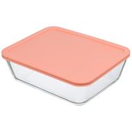 Smart Solutions Контейнер для еды стеклянный (2600 мл), розовый