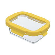 Smart Solutions Контейнер для еды стеклянный (370 мл), желтый