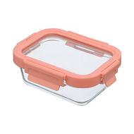 Smart Solutions Контейнер для еды стеклянный (370 мл), розовый
